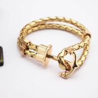 Wholesale Multi Color Letter Slide Charms - Fashion Holiday gifts Retro anchors bracelet fashion multi - storey anchor multi - color woven leather bracelet