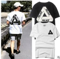 Wholesale Basic Summer T Shirt - 2017 palace skateboards classic triangle print mens t shirt basic summer noah clothing cotton short sleeve tees tops