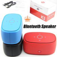 Wholesale Mini Sound Dock - 3D HiFi sound K3 T3 1+1 speaker high quality Touch the keys speaker Portable Mini Wireless APP Bluetooth For S6 edge plus