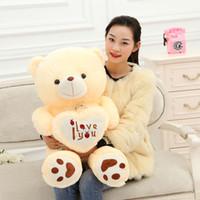 teddy liebesgeschenk großhandel-Teddybär weiche Puppe Plüschtier Liebesbär Kuscheltier großer Kreativbär Halten Sie das Herz Geburtstagsgeschenk