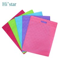 Wholesale Reusable Shopping Bags Wholesale Prices - Wholesale- 20 pieces Lowest Price!!! Non Woven Shopping Bag Eco-friendly Reusable Handbag Advertising Gift Bag Candy Color Grocery Bags