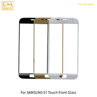 Wholesale Touchscreen Parts - 5pcs lot For Samsung Galaxy S7 G930,S7 Edge G935 Front Touchscreen Glass Lens Phone Screen Panel Digitizer Outer Replacement Phone Parts