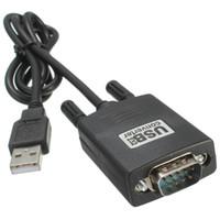 usb db9 seri kablo toptan satış-100 adet USB 9 Pin RS232 RS-232 seri port com adaptör kablosu dönüştürücü Y-105 USB Çift Çip DB9 GPS PL2303 + ADM211 1 M / 3ft yeni