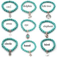 Wholesale Turquoise Bridesmaid Jewelry - Turquoise gemstone bracelet, hummingbird bracelet, hummingbird jewelry, bridesmaid gifts, wedding gifts