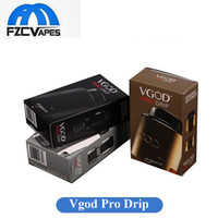 Wholesale velocity rda online - Original Vgod Pro Drip RDA mm Diameter Rebuidable Dripping Atomizer Wide Bore with Velocity Deck Authentic