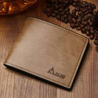 Wholesale Leather Purses Small Cheap - Wholesale- First Class Pu Leather wallets men Vintage purse famous brand man wallet high quality cheap price purse small Free shipping !!