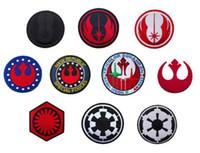 Wholesale Wholesale Biker Caps - Fashion iron on patches cap fabric coat patch badges Applique badge clothing accessori applique biker vest embroidered