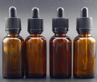 Wholesale Glass Bottles 1oz - 30ml e liquid bottle glass dropper clear amber color for vape ejuice essential oil Manufacturers 1oz