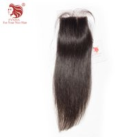 Wholesale Synthetic Silk Top Closure - Top Quality 130% density Straight 8-20inches Virgin Hair Silk Base Closure swiss lace free part closure DHL Free Shipping