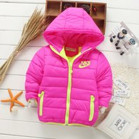 Wholesale Girls Coat Hooded Down - Retail New 2017 Children outerwear boys&girls Winter Thick warm Solid fashion coats&jackets,Kids Korean Down Parkas 6 colors