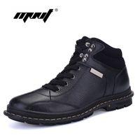 Wholesale Comfortable Warm Winter Boots - Wholesale- Top quality super warm genuine leather men boots fashion comfortable winter boots shoes handmade pius size snow boots