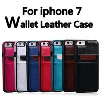 Wholesale Iphone Bumper Card - For Iphone 7 Wallet PU Leather Soft TPU Card Slot Back Cover Bumper Case Cover For iphone 7 Plus 6 Plus 6S Samsung S7 Edge S7 S6 Edge S6