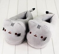 Wholesale Plush Slippers - 28cm Pusheen Cat Plush Slipper Pusheen The Cat Animal Winter Warm Indoor Shoes for Adults