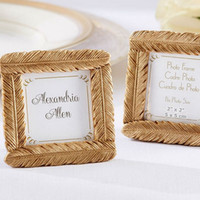 Wholesale baby shower favors frame for sale - Group buy Gold Resin Feather Photo Frame Baby Shower Favors And Gifts Wedding Party Giveaway Souvenirs ZA3652