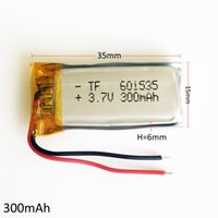 Wholesale Power Speaker Rechargeable - 3.7v 300mAh Li-polymer Rechargeable LiPo Battery 601535 with PCM borad power For mini speaker Mp3 bluetooth GPS DVD Recorder headphone