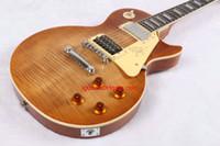 1959 gitar bedava nakliye toptan satış-Çin Gitar 1959 Jimmy Sayfa Tiger bal patlama Elektrik Gitar Stokta yeni varış Ücretsiz Kargo