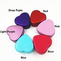 Wholesale Tea Gift Tins Wholesale - Colorful Heart Shape Tin Box Tea Candy Chocolate Jewelry Storage Box Christmas Gift Container Case