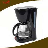 Wholesale 110V coffee pot drip coffee maker machine L glass cup coffee pot warmer cups