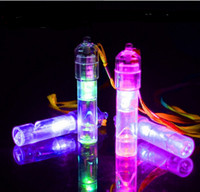 Wholesale Glow Whistles - Wholesale- Colorful child toy flash luminous LED Glow whistle ktv whistle party bar activity supplies noise maker Birthday Gift YH178