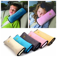 Wholesale Children Neck Support Pillows - Wholesale- airplane car travel neck Pillow Safety Seat Belt Harness Shoulder Pad Cover Children Protection Covers Cushion Support Pillow
