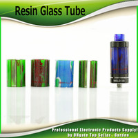 Wholesale Aspire Glass - Demon Killer Resin Glass Tubes Replacement For SMOK TFV12 TFV8 BABY Eleaf Ijust S Melo 3 Mini Aspire Cleito New Glass DHL Free 2244012
