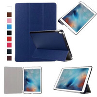 Wholesale Slim Magnetic Ipad Cases - Ultra Slim 3 Fold Tri-Fold Flip Magnetic Smart Case With Auto Sleep Wake Back Case For iPad Pro 10.5 2017 9.7