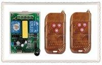 interruptores de onda z al por mayor-Al por mayor- AC220V 2CH control remoto inalámbrico Motor Interruptor negativo positivo sistema 2X Transmisor + 1X relé receptor casa inteligente z-wave
