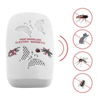 Wholesale Electronic Ultrasonic Indoor Rat Mouse - US EU Plug Electronic Ultrasonic Rat Mouse Repellent Indoor Anti Mosquito Insect Pest Killer Repeller Pink White Color
