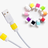Wholesale Multi Usb Phone Charger Cable - Multi Colors USB Cable Protector Sleeve D2 Mobile Phone Charger Cord Protector Silicone For IPhone Line Protective