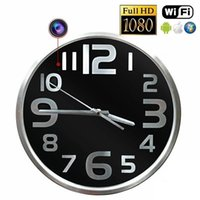 Wholesale wall mounted camera resale online - HD p Wall mounted Clock Camera Wireless wifi IP Camcorder Wall Hanging Clock Video recorder Motion Detection cameras