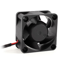 Venta al por mayor- CAA Hot 40mm DC 5V 6.42CFM Chipset Cooling Fan Negro para Cooler CPU de la computadora