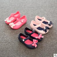 Wholesale Plastic Mini Shoes - Mini Sed Baby Sandals Girls Fish Mouth Jelly Sandals Kids Summer Shoes Toddler First Walker Shoes Bow Boots Cartoon Princess Baby Shoes