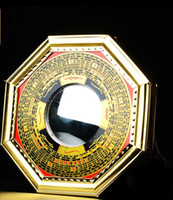 Wholesale Mirror Ornament - Kaiyun Bagua mirror convex concave alloy block evil Feng Shui mirror May Wealth Come Generousl Zhaocai ornaments Tai Chi Yin and Yang mirror