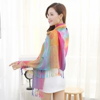 Wholesale Nepal Scarfs - Folk style spring cotton tassel Nepal jacquard scarf factory direct number of summer sun female air conditioning trade shawl