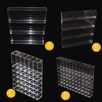 Wholesale Hanging Display Racks - 30ml E Liquid Display Wall Hang Clear Acrylic Stand Racks With Screw Plastic Nails For 30ml Eliquid Ejuice Vape Juice Bottles Showcase Hold