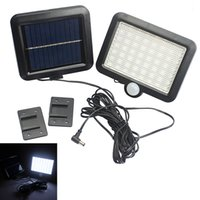 ingrosso sensore umano-Lampada da parete a LED per rilevamento di movimento solare a LED a luce solare da esterno PIR a 56 LED LEG_22F