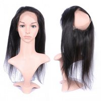 Wholesale Baby Tangle - Cambodian Human Hair Silky Straight 360 Lace Frontal Closure with Baby Hair 10-20 inch No Tangle G-EASY
