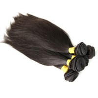 Wholesale Mix Lenght Brazilian Hair - 8A 5pcs lot Mix Lenght 100% Peruvian Virgin Hair Human Hair Weft High Quality HairExtensions Natural Color Silky Straight DHL Shipping