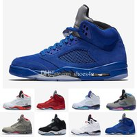 2017 Cheap Retro 5 OG Black Metallic Mens Basketball Shoes Atacado Alta qualidade couro genuíno Air Retro Sneakers Eur 36-47 US 5.5-13