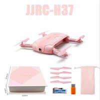 Wholesale jjrc h37 for sale - Quadcopter Drones Camera DH JJRC H37 Million HD CAMERA Pixel Channel Aerial Drones RC Airplanes Mini Folding Machine Portable Kid Gift