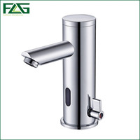 Wholesale Automatic Mixer Faucet - Wholesale- Sensor Faucet Automatic Inflrared Sensor Hand Touch Tap Hot Cold Mixer Chrome Polished Sink Mixer,Bathroom Tap, Free Shipping