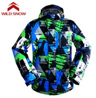 Wholesale Thermal Clothes For Men - Wholesale- Wild Snow Waterproof Men's Ski Jacket Breathable Snowboard Jacket for Men Winter Outdoor Thermal Coat Snow Clothing Warm Coat