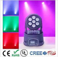 Wholesale Moving Led Wash - 2pcs Lot led mini wash moving head light 7x12w RGBW quad DMX 9 14channels