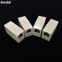 menuisier achat en gros de-Amvykal Haute Qualité Câble téléphonique Extender Modulaire Plug 6P4C 6P2C RJ11 Connecteur Câble Joiner Extension Converter Coupler