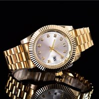 Wholesale auto products - New luxury fashion brand product in men and women date of new steel clock male quartz watches automatic movement