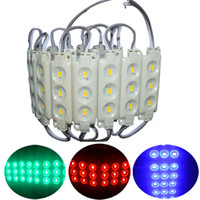 dökme ışık toptan satış-Die-döküm Enjeksiyon ABS Plastik 5730 SMD Led Modülleri 3 Leds Yüksek Lümen Led Arka Işıkları Dize Kanal Mektuplar Tabela aydınlatma Su Geçirmez