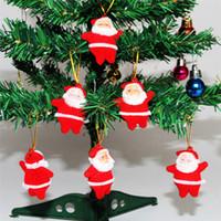 Wholesale acrylic christmas tree ornaments - Wholesale-Hot sale new Christmas Supplies Christmas Tree Pendant supplies Santa Claus decoration Christmas decoration supplies A0445