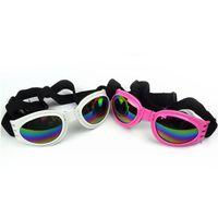 ingrosso occhiali da sole cucciolo-Occhiale da sole Fashion Occhiali da sole per cani di piccola e media taglia UV pet occhiali da sole occhiali da sole occhiali regolabili pieghevoli