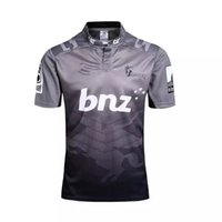 Wholesale Union Shorts - Rugby League New Zealand Super Rugby Union Crusaders High-temperature heat transfer printing jersey Rugby Shirts