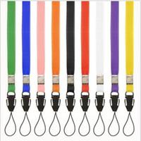 Wholesale Neck Lanyards Pass Holder - Lanyards Neck Strap For ID Pass Card Badge Gym Key   Mobile Phone USB Holder DIY Hang Rope Lariat Lanyard